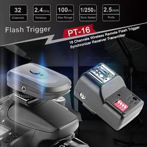 Image 3 - 16 канальный беспроводной дистанционный триггер вспышки Speedlight синхронизатор передатчик приемник для камеры Canon Nikon Sony DSLR