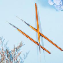 Ручка для рисования ногтей с тремя ногтями из темно-красного дерева, ручка для рисования ногтей, супер длинный провод, инструменты для украшения маникюра