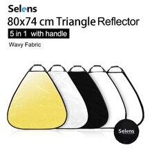 Selens 80 cm 5 em 1 refletor fotografia portátil luz refletor com caso carring para fotografia photo studio acessórios