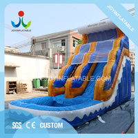 Giant Water Slide inflatable Games With Swimming Pool