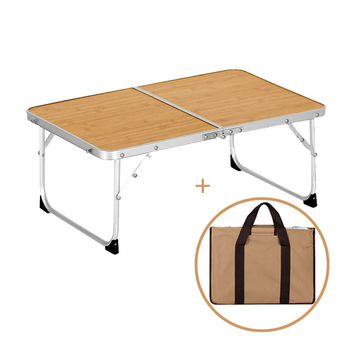 Portable Outdoor Table Aluminium Alloy Outdoor Folding Furniture Set Camping L 25x W 60x H 40cm Picnic Table Durable Table Desk giantex portable outdoor furniture set table 4 chairs set garden camp beach picnic folding table set with carrying bag op3381re