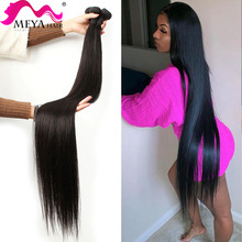 Brazilian Hair Bundles Weave Virgin Remy Natural-Color Straight 40inch 26 Meya 32 28-30