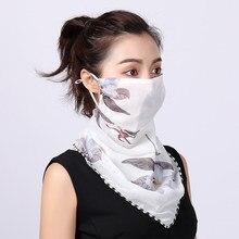 2021 venda quente máscara de boca leve máscara facial cachecol máscara de proteção solar máscaras equitação ao ar livre protetor lenço de seda