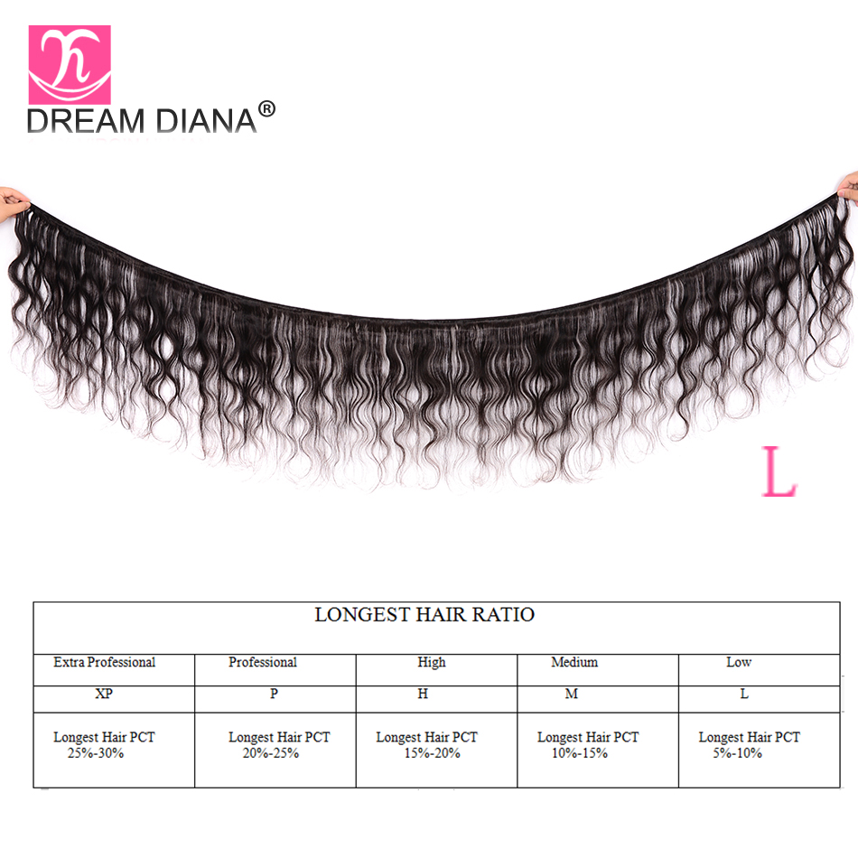 """Image 2 - DreamDiana Body Wave 1/3/4 Bundles 10"""" 30"""" L Brazilian Hair Bundles Natural Black Color Remy Weaving 100% Human Hair Extensions-in Hair Weaves from Hair Extensions & Wigs"""