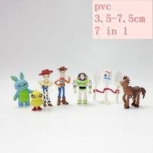 New Toys for Story 4 Buzz Lightyear Woody Jessie Forky Slinky Dog Lotso Bullseye Horse Figure 7/9/10/12/17 pcs/set