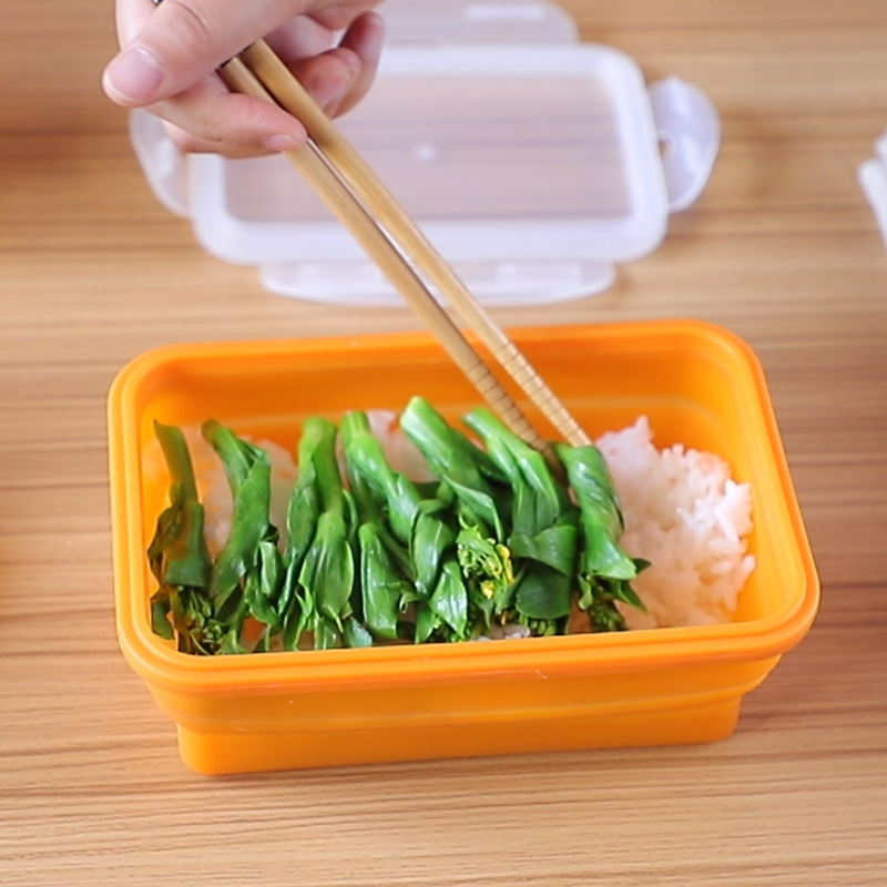 Silicone Foldable Container Microwave Refrigerator Gui Jiao He Freshness Box