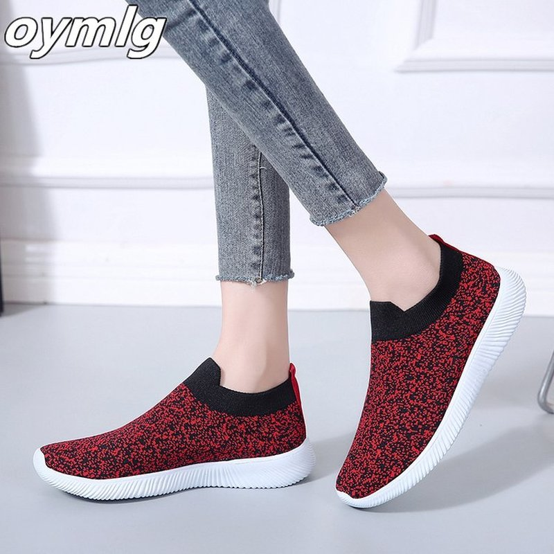 Women's Breathable Sneakers Fashion Flying Weaving Socks Shoes Sneakers Casual Shoes Student Running Shoes Sports Shoes