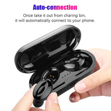 2019 Mini Tws Wireless Earphones In Ear Stereo Wireless Bluetooth Headset 5.0 Headsfree Noise Cancelling Earbuds With Microphone wireless business affairs bluetooth earphones pleasant 180 degree rotating stereo music headset noise cancellation earbuds eh