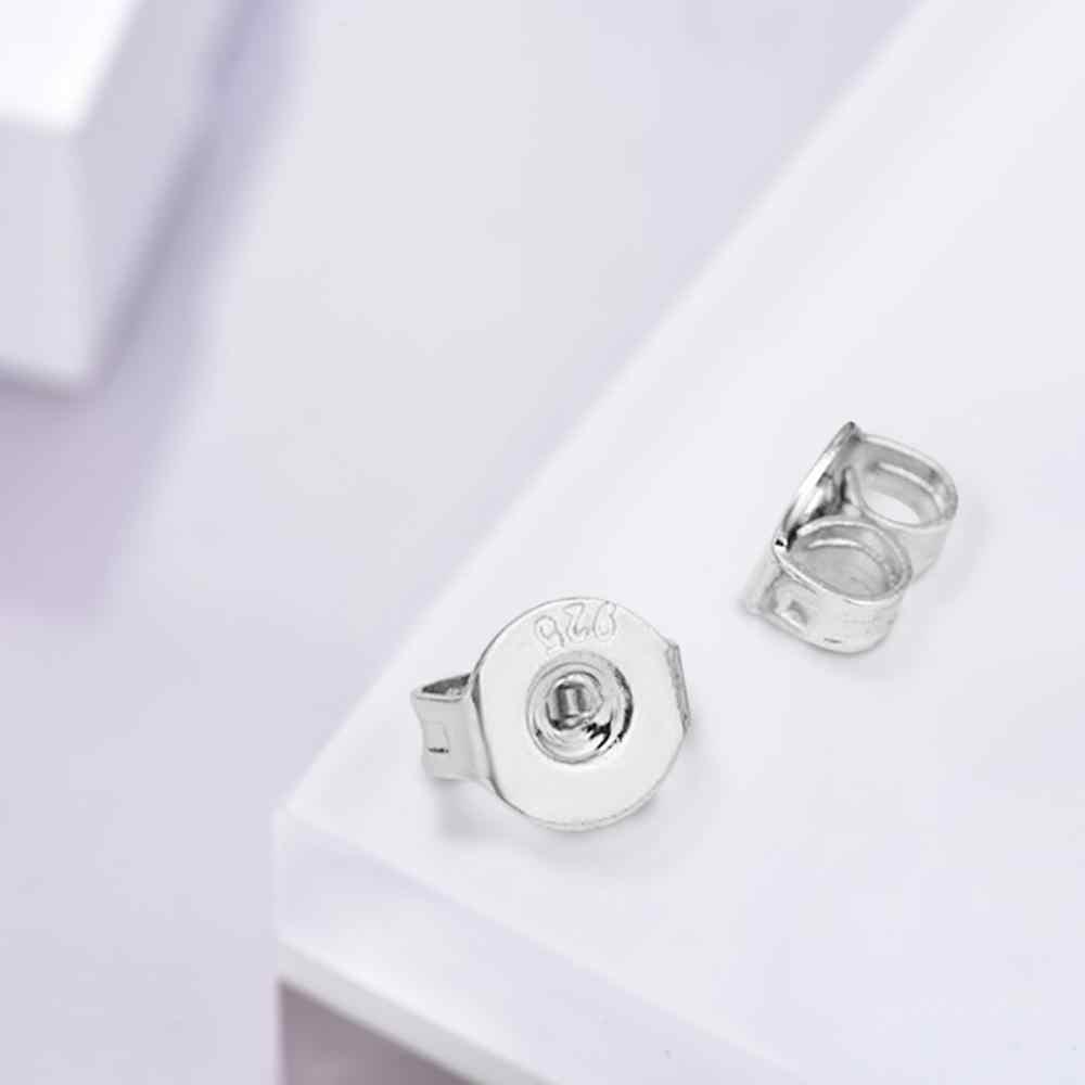 10pcs คุณภาพสูง 925 เงินสเตอร์ลิงต่างหูปลั๊กต่างหูฐาน Ear Studs กลับทั้งขายอุปกรณ์เสริม FD