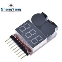 F00872 Lipo тестер напряжения батареи Вольтметр индикатор проверки двойной динамик 1 S-8 S низковольтный звуковой сигнал 2в1 2S 3S 4S 8S