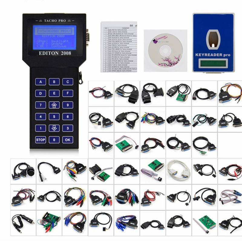 2019 Tacho Pro 2008 Release Unlocking Main Device Mileage Adjustment Full Cable Dash Programmer Automobile Odmetro Tool