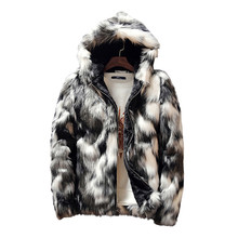 Winter Faux Pelz Dicke Herren Jacken & mäntel Mode Männer und Frauen Paare Warme und Bequeme Kleidung Schlank Grau Männer mantel S 3XL