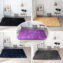 Entrance carpet Nordic Non-slip Flannel Embossed 3D door mat grid pattern custom made bedroom rug livingroom bathroom floor mat brick wall pattern flannel bathroom floor mat