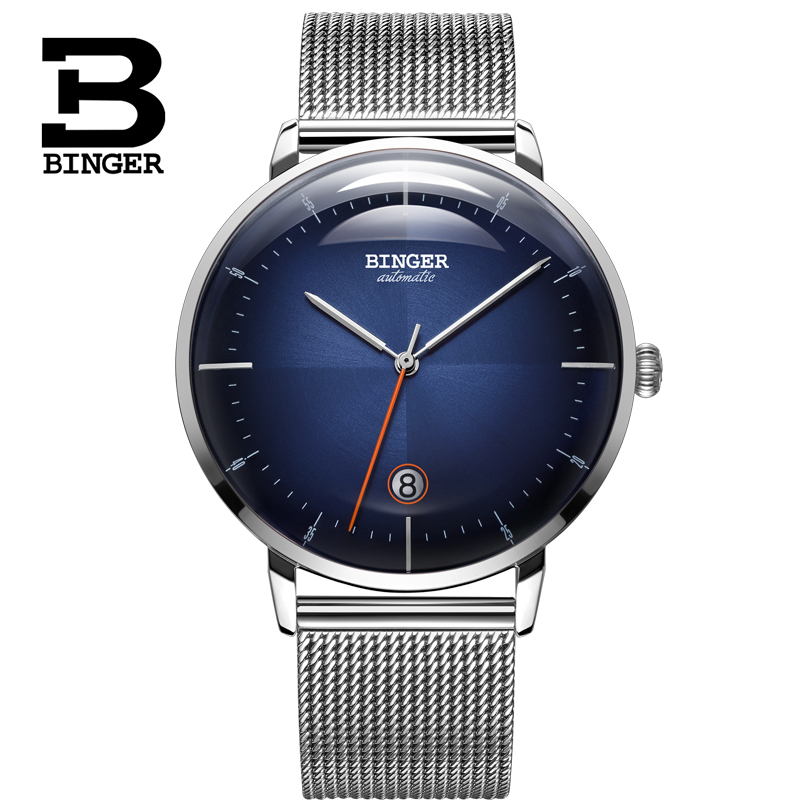 High End BINGER Mens Automatic Mechanical Watches Top Brand Luxury MIYOTA Movement Waterproof Fashion Sport Watches Montre Homme