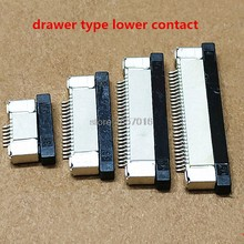 10Pcs FPC Connector socket FFC 1.0MM Drawer upper Contact type 4/5/6/7/8/9/10/12/14/16/18/20/22/24/26/28/30P(China)
