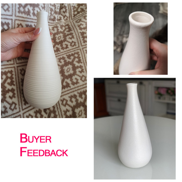 Nordic Modern Simple Ceramic Vase Tabletop Black White Dried Flower Containers Home Decor Desktop Decorative Vase  Wedding Gifts 4