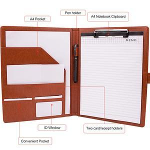 Image 4 - A4フォルダはpu革ドキュメントフォルダブリーフケース格納するためファイルフォルダのための学校やオフィスホルダー