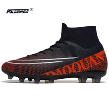 Men Soccer Shoes Adult Kids TF/FG High Ankle Football Boots Cleats Grass Training Sport Footwear 2021 Trend Men's Sneakers