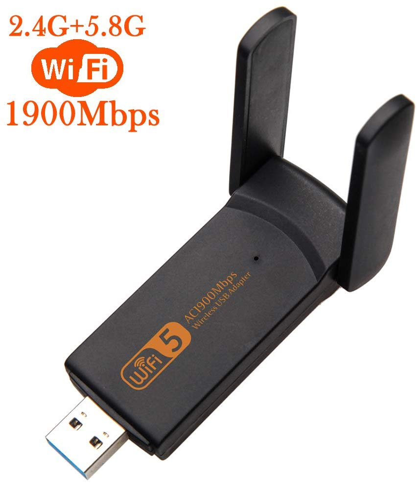 AMKLE Wireless USB Wifi Adapter 1900Mbps USB Network Card 1200Mbps  Wifi Dongle USB LAN Ethernet Dual Band 2 4G 5 8G Fee Driver