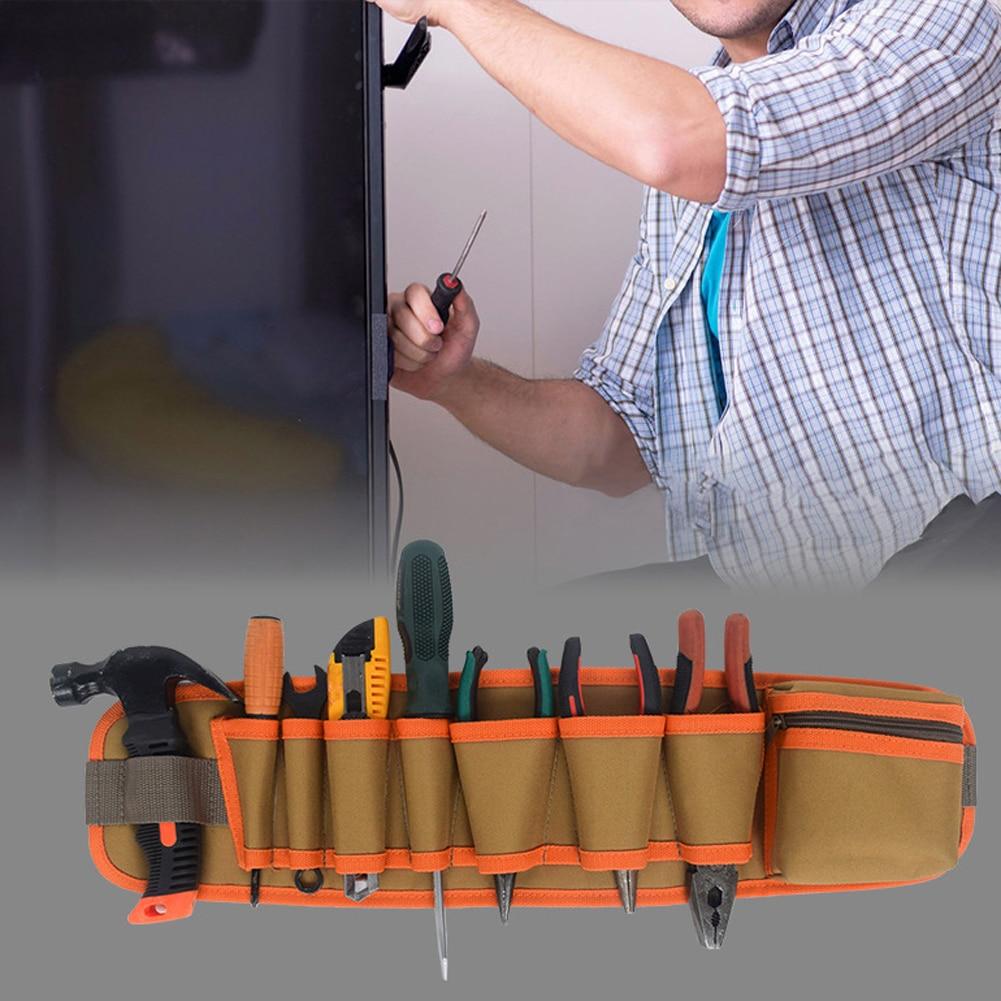 Multi-pockets Tool Bag Waist Pockets Electrician Tool Bag Oganizer Carrying Pouch Tools Bag Belt Waist Pocket Case 21.5*5.5Inch