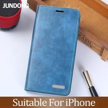 フリップ電話ケース iphone 6 6s 7 8 プラス 11 Pro X Xr Xs 最大ケース PU オイルワックス革 3 カードスロットカバー