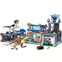 Jurassic World Park Security bureau Dinosaur off road vehicle Raptor Raptor Building Blocks Sets Bricks Kids Kits Dinosaurios