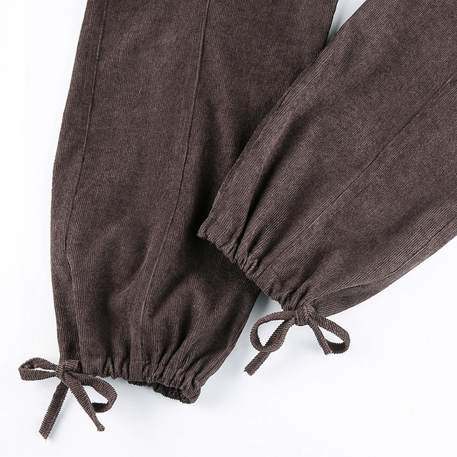 Corduroy Trousers with side pockets