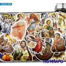 68 pçs deus jesus virgem maria peter john arte estilo adesivos para o telefone móvel portátil bagagem guitarra caso skate decalques adesivos