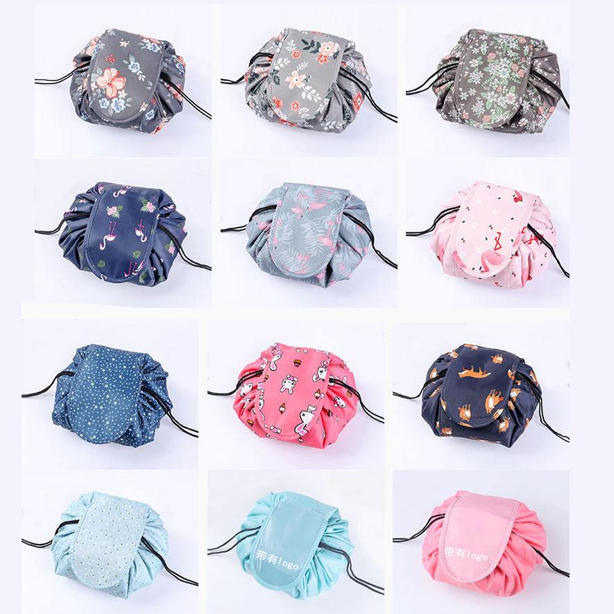 2020 Drop Shipping Women Drawstring Cosmetic Bag Makeup Bag Organizer Make Cosmetic Bag Case Pouch Toiletry Beauty Box OC471