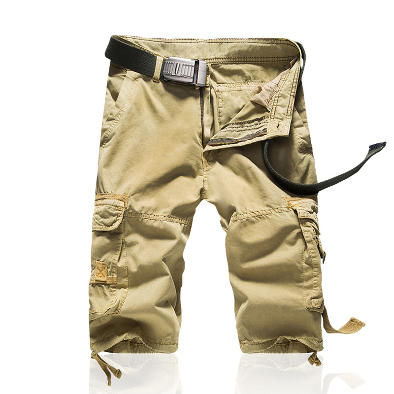 Summer Bib Overall Shorts Camouflage Pants Bags Shorts Pure Cotton Bags Bib Overall Men's