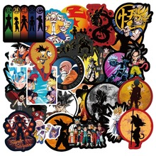 New 50-108Pcs Japanese Animation Dragon Ball Sticker Super Saiyan Goku for Skateboard Guitar DIY Home Decoration Luggage Laptop