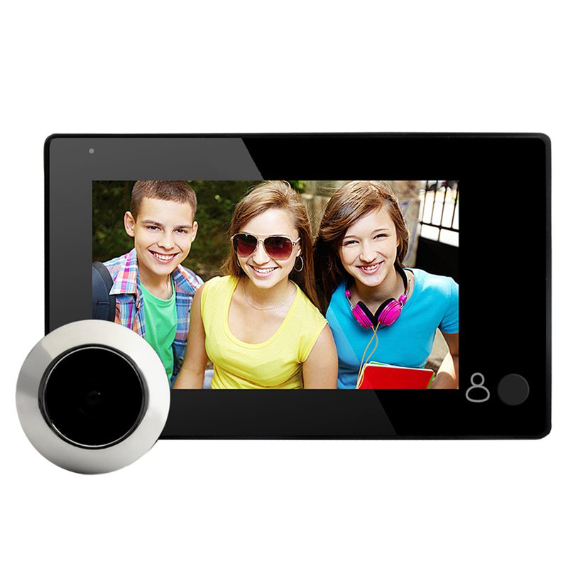Hot 3C-4.3-inch LCD Digital Video Door Peephole Doorbell Camera Infrared Night Vision 145 Degrees Smart Doorbell Camera
