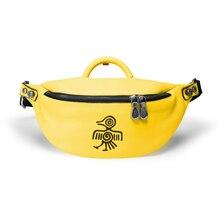 Orabird Streetwear damska torba na klatkę piersiowa miękka skórzana moda damska torby na ramię crossbody mała talia torebka torby na telefon