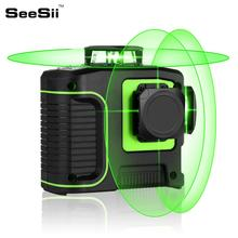 лучшая цена New Green Laser Level 12 Lines 3D Level Self-Leveling 360 Horizontal And Vertical Cross Super Powerful Green Laser Level