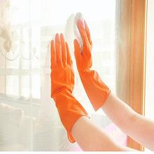 Magiczne lateksowe rękawiczki do mycia naczyń lateksowe gumowe rękawice do mycia naczyń do gospodarstwa domowego lateksowe rękawice do sprzątania rękawice tanie tanio 100-140g Disposable Mechanic Nitrile Gloves Grube latex Czyszczenie Washing Cleaning Long Gloves