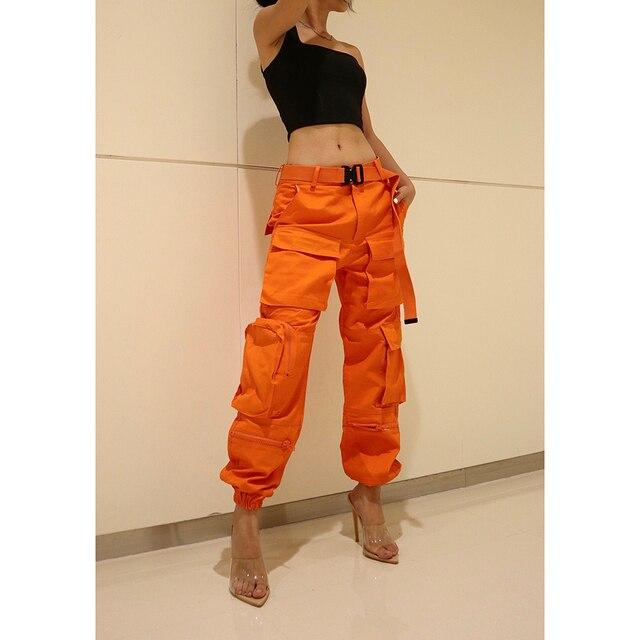 Hiver taille haute pantalon vintage dames noir cargo pantalon femmes joggers baggy pantalon femmes pantalon punk streetwear