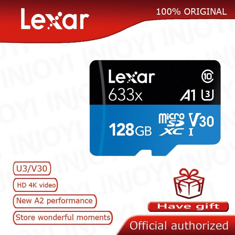 Original Lexar Micro Sd Card 32gb 64gb 128gb 256gb 512gb Carte Sd Class10 633x TF Flash Memory Card Mecard Micro Sd Kart A1 A2