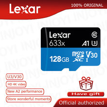 Asli Lexar Micro SD Card 32 GB 64 GB 128 GB 256 GB 512 GB Carte SD Class10 633x TF Flash kartu Memori Mecard Micro Sd Kart A1 A2(China)