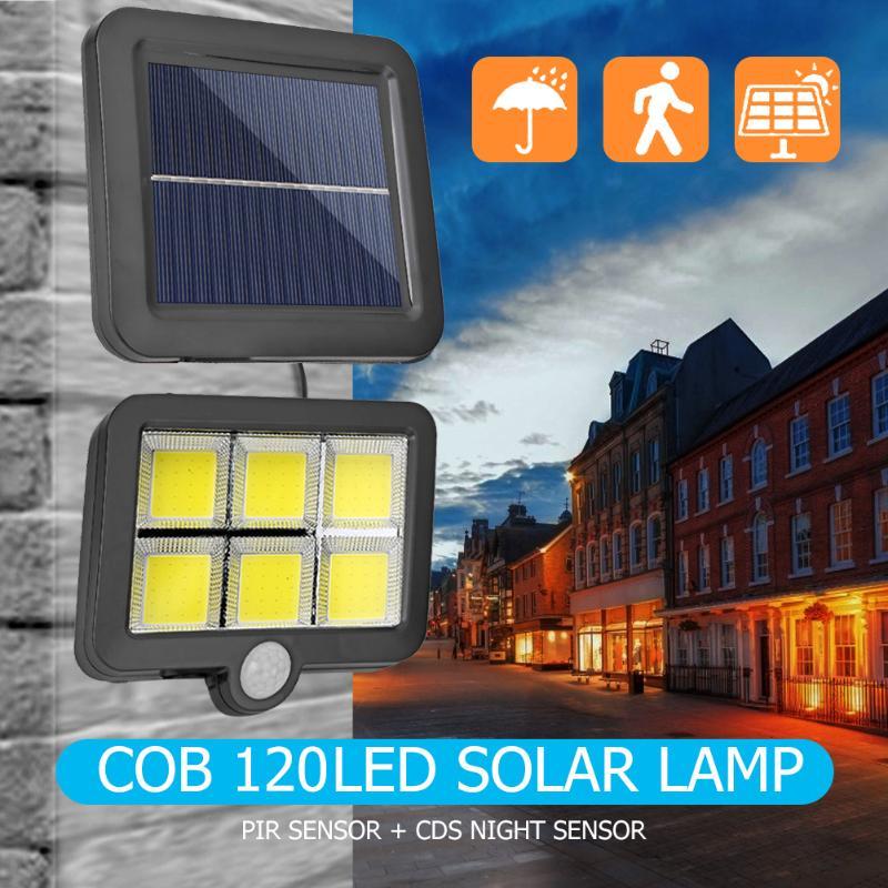 COB 120LED 3 Modes Solar Light Waterproof Wall Split Lights Solar Lamp Motion/Infrared Sensor Courtyard Night Lighting