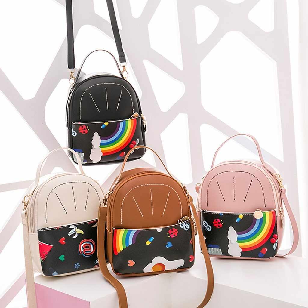Mädchen Kinder Multi-Funktion Kleine Rucksack Regenbogen Schulter Tasche Für Frauen Teenager Weibliche Damen Schule Rucksack Femininas #25