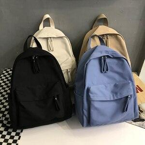 Fashion Backpack Canvas Women Backpack Anti-theft Shoulder Bag New School Bag For Teenager Girls 15.6 Inch Laptop Rucksack(China)