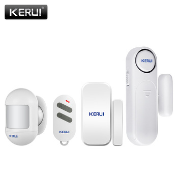 KERUI 300ft 120dB Wireless Door/Window Sensor Alarm Anti-Theft Door Alarms Remote Control for Home Safety Security PIR Smoke free shipping latch anti theft alarm door window sensor easy using portable light alarm self defense for housing safety