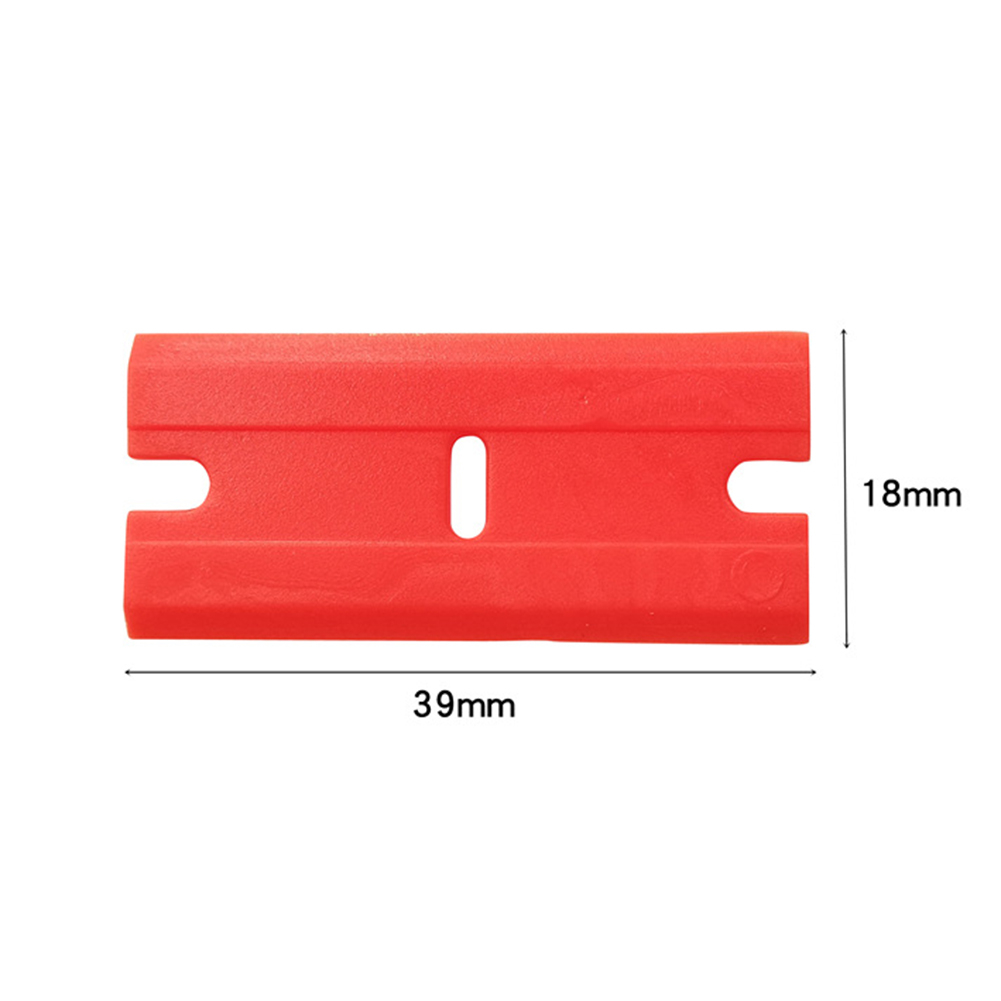 100pcs Car Wrap Sticker Squeegee Double Edged Plastic Razor Blade Fiber Wrapping Vinyl Window Glass Clean Scraper Carbon