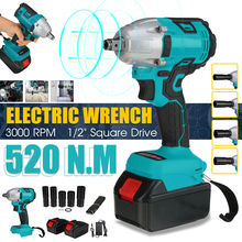 3000RPM Cordless Brushless Electric Wrench Impact Wrench Socket Wrench 520N.m Li-ion Battery Hand Drill Installation