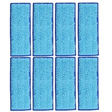 8 Pack Microfiber Wet Cloth Mopping Pads Washable Reusable Replacement for Irobot Braava Jet 240/241 Cleaner Robot 6pcs 3x2 microfiber washable wet damp dry sweeping pad mopping pads cloth for irobot braava jet 240 241 244 245 replacement