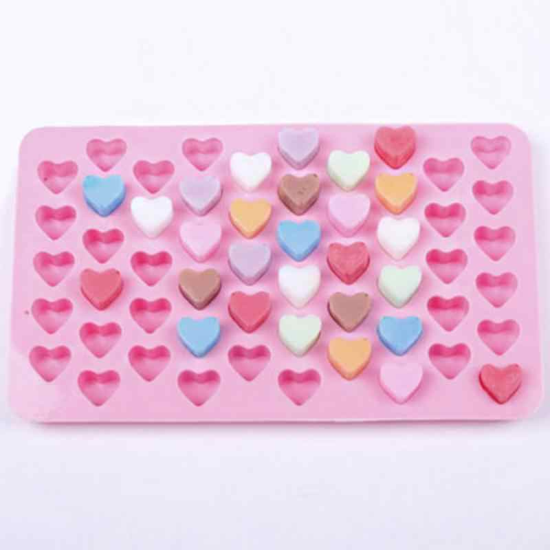 1Set 55 Hart Silicone Ice Cube Cake Chocolade Bakken Ice Cube Bakken Mould Lade Milieubescherming Food Silicone Ice cube