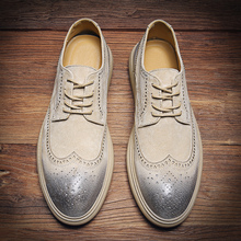 2020 Summer Genuine Leather Casual Shoes Men Solid Handmade Vintage Shoes Flats Lace-up Formal Shoes Moccasins Carved Shoes heinrich hot sale genuine leather handmade formal shoes men vintage carved lace up oxfords top quality flat shoes schuhe herren