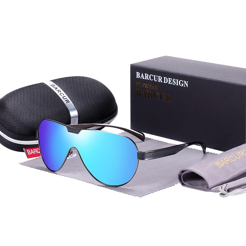 Sports Branded Polarized Sunglasses Blue