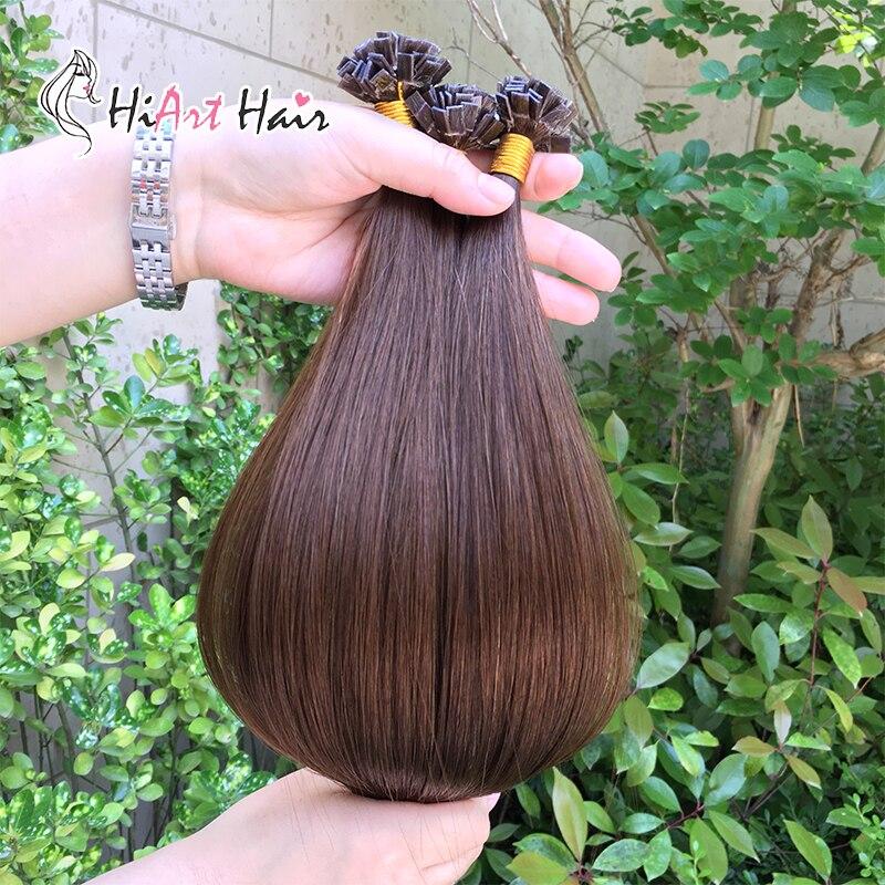 Modest Hiart 1g Micro Ring Keratin Hair Extensions Salon Doube Drawn Pre Bonded Hair Capsule Keratine Tip Human Remy Hair Extension