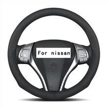 Couverture de roues de volant en cuir daim | Pour Nissan Maxima Note/Versa Pulsar C12 Tiida Sentra/Sylphy/Pulsar Navara, 15 cm de 37 38cm